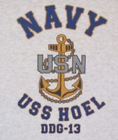 USS HOEL  DDG-13* DESTROYER * U.S NAVY W/ ANCHOR* SHIRT