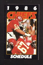 Kansas City Chiefs--Gary Spani--Art Still--1986 Pocket Schedule--One Hour Photo