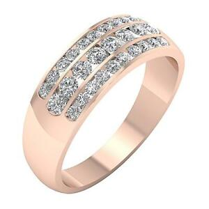 Engagement Wedding Ring I1 G 1.15 Ct Natural Diamond Channel Set 14K Solid Gold