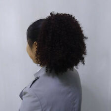 4# Short Weave Ponytail Clip in Afro Kinky Curly hair Updos for Black Women