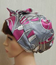 Women's satin head scarf sleeping bonnet afro curly hair wrap silky headscarf