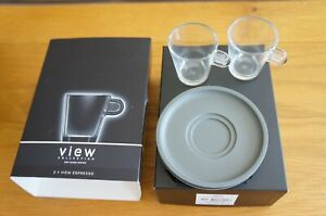 NESPRESSO 2 View Collection Espresso Cups & Saucers New In Box