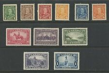Canada 1932 KGV Pictorial Issue complete set of 11 #217-227 MNH