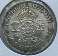 1937 Great Britain 1 One Florin - Nice Bright