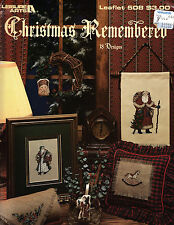 LEISURE ARTS CHRISTMAS REMEMBERED COUNTED CROSS STITCH PATTERN