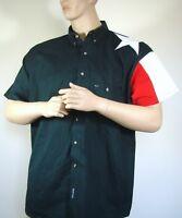 Rock Point Texas Lone Star Flag Button Down Shirt Sz  2XL Men's Red White Blue
