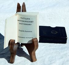 1st Edition 1958 Tuttle's Watch-Pocket English Japanese Dictionary & Slip Cover