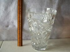 """LEAD CRYSTAL GLASS VASE 8 3/4"""" TALL X 5 1/2"""" WIDE  PERFECT CONDITION   #441"""