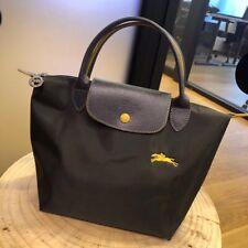 LongChamp Le Pliage Club Small Women's Bag Handbag Tote with Horse Gunmetal