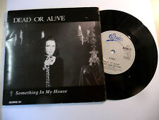 """DEAD OR ALIVE""""SOMETHING IN MY HOUSE-disco 45 giri EPIC Uk 1986"""" COVER POPUP/RARE"""