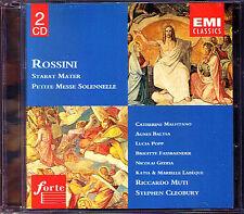 ROSSINI Messe Solennelle Stabat Mater CLEOBURY MUTI 2CD Lucia Popp Gedda Baltsa