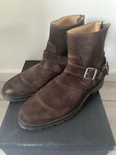 Belstaff Trialmaster Mens Boots Suede Dark Brown Size 44