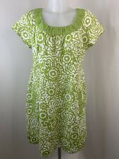 Boden • Green Patterned Linen Tunic Dress with Pockets • Size 14