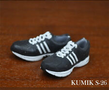"KUMIK 1/6 Scale Male Black Sports Shoes Sneakers S-26 Fit 12"" Action Figure"
