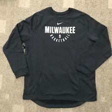 Nike Therma Mens NBA Milwaukee Bucks Pullover Sweatshirt Gray Size 3XLT Tall