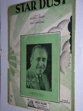 "VINTAGE 1929 SHEET MUSIC: ""STAR DUST"" BY HOAGY CARMICHAEL UKULELE ARRANGEMENT"