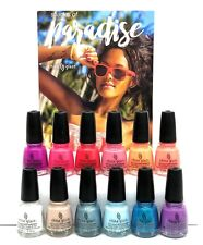 China Glaze NL- Shades of PARADISE - Summer 2018  -12pcx0.5oz (1601-1612)