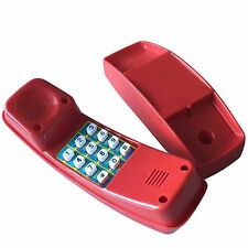 téléphone JEU ENFANTS Rouge pour Maison Jouet Tour de jeux à grimper