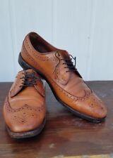 """Allen Edmonds """"LARCHMONT"""" Walnut Leather Oxfords Shoes Size 11 D"""