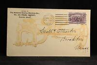 Massachusetts: Boston 1894 National Sewing Machine Part Advertising Cover