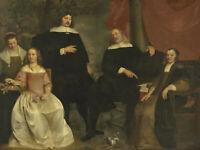 Portrait de famille avec contrat de mariage (Pieter Thijs) - Poster métal
