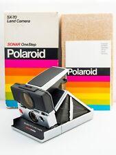 *TESTED* Polaroid SX-70 SONAR OneStep Folding SLR Land Camera BOX & INSTRUCTIONS