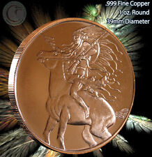 """""""Chief Red Horse"""" American Indian Series Copper 1 oz .999 Copper Round"""