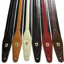 Genuine Leather Soft Padded SCRIPT Guitar Strap Electric, Acoustic, Bass, Class