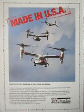 1992 PUB BELL BOEING TILTROTOR TEAM V-22 OSPREY ORIGINAL AD
