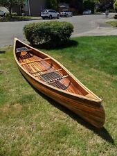 New listing Hand Built 16ft Cedar Strip Canoe