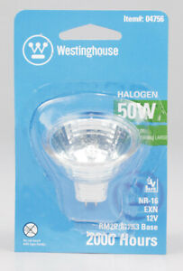 Westinghouse  50 watts MR16  Halogen Bulb  510 lumens White  Floodlight  1 pk