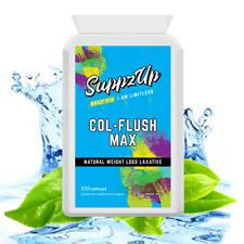 Suppzup col-Flush MAX 100 Capsule Lassativo Naturale Perdita di peso Colon Cleanser
