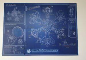 Stargate Atlantis schematic blueprint A3 artprint poster