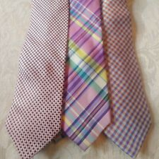 Mens ties silk mixed lot Pink and Purple Blue Hues  Set of 3