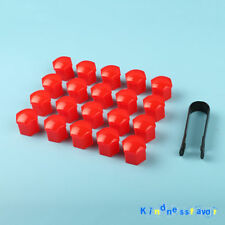 20Pcs Red 19mm Wheel Nut Cover Bolt Cap For Vauxhall Opel Ford Focus Kuga C-Max