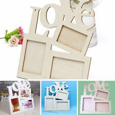 Love Letter Bois Photo Cadre DIY Peinture Craft Artwork Décoration Maison Table