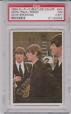1964 O-Pee-Chee The Beatles Color John Speaking #24 PSA 7 (ST) NM RARE