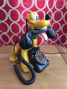 Disney Pluto Novelty Telephone - with wagging tail !
