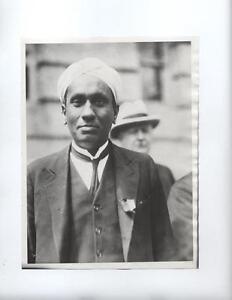 1931 India Physicist Sir CV Raman Nobel Prize press photo rare scattering Madras
