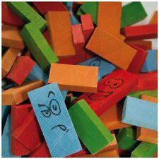 Jeujura Dominos en bois Jouet Écologique Wooden Dominoes Game Holz Dominospiel
