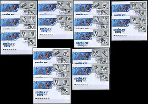 2014. Russia. Winter Games. Sochi-2014. Winter Olympic sports. FDCs with 3 canc.