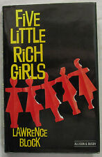 Five Little Rich Girls Lawrence Block 1st UK Ed Hardcover DJ 1984 Crime