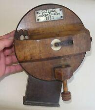 rarissime coupe haricots de table fait en 1850 en bois - art populaire - cuisine