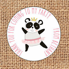Panda ballet Party bag stickers 24 thank you for coming sweet cone D1 birthday