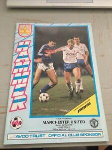 1986 WEST HAM UNITED V MANCHESTER MAN UTD FA CUP 5TH ROUND PROGRAMME VGC