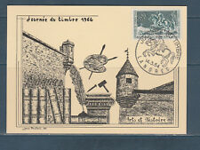 carte  1er jour  journée du timbre   52  Langres  1964