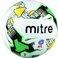 MITRE EFL DELTA MATCH HYPERSEAM WHITE Football 12 Panel Soccer Ball Carta Size 5