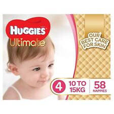 Huggies Ultimate Nappies,Girls,Size 4 Toddler (10-15kg),58 Count Baby Disposable