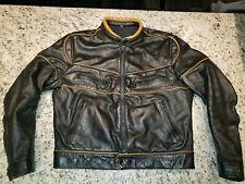 Vtg 60's BRITISH CYCLE LEATHERS Brimaco Cafe Racer Motorcycle Jacket 42 NICE!!