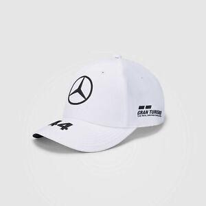 NEW 20/21 Mercedes AMG F1 Team MENS Lewis Hamilton WHT Baseball Cap Hat OFFICIAL